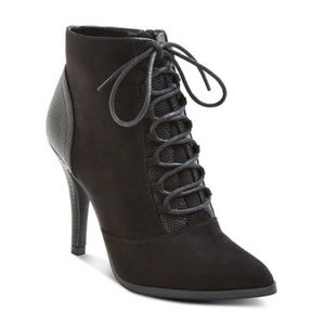 Womens Mossimo Black Lace Up Booties
